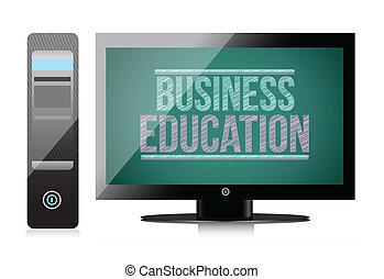 display., educación, computadora, empresa / negocio