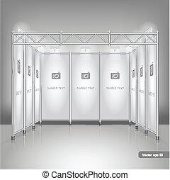 display., handel, stand, udstilling