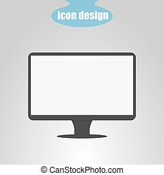 Display icon on a gray background. Vector illustration