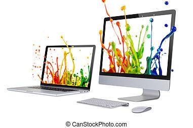 display., laptop
