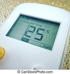 Display of an air conditioner remote control