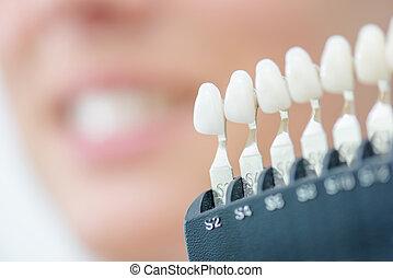 display of artificial teeth
