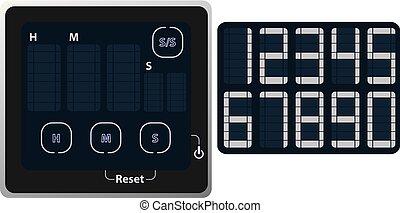 Display of household alarm clock