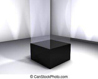 Display room - 3d rendering, Concept display room, empty...