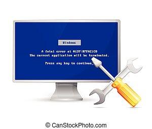 Display shows error message