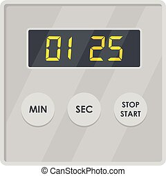 Display timer icon, flat style