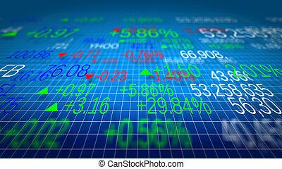display, van, aandelenmarkt citeert