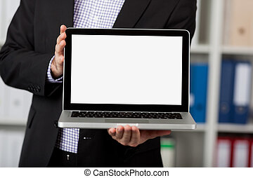 Displaying Laptop In Office
