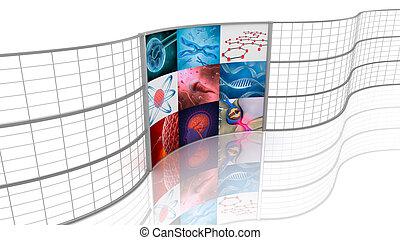 displays., grafické pozadí, medicine.