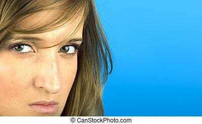 Displeased woman