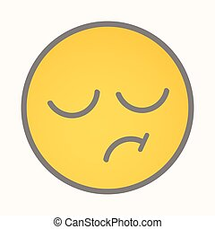 Displeasure - Cartoon Smiley Vector