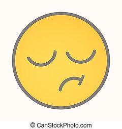 Displeasure - Cartoon Smiley Vector