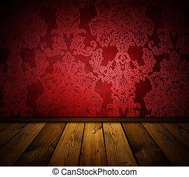 disponível, vindima, -, interior, imagens, afiado, semelhante, vermelho