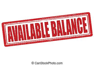 disponible, balance