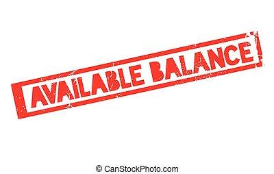 disponible, caucho, balance, estampilla