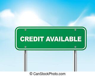 disponible, credito, 3d, muestra del camino