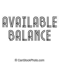 disponible, estampilla, blanco, balance