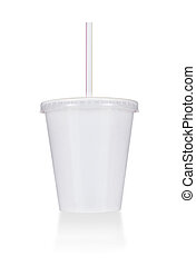 Disposable cup of big volume