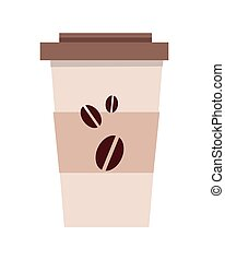 Disposable Plastic Coffee Cup Template Isolated