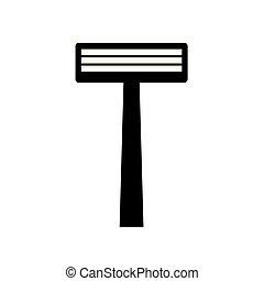 disposable shaving razor icon- vector illustration
