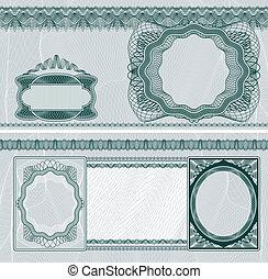 disposición, billete de banco, blanco