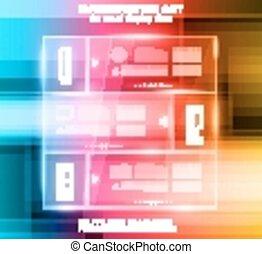 disposition, projecteurs, sur, élevé, infographic, technologie, fond