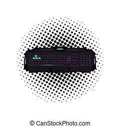 dispositivo, arte, gamer, taponazo, teclado