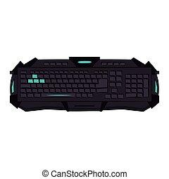 dispositivo, gamer, teclado