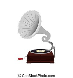 dispositivo, gramophone, música, vynil