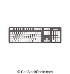 dispositivo, gris, teclado