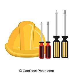 dispositivo, herramienta, construcción, martille el icono