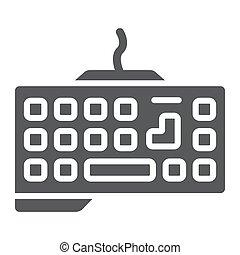 dispositivo, icono, sólido, glyph, juego, gráficos, patrón, telclado numérico, teclado, tecnología, señal, vector, fondo., blanco