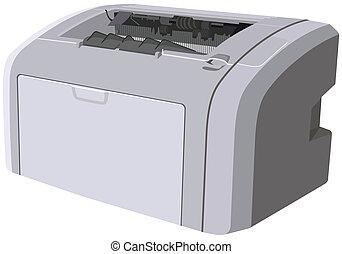 dispositivo, impresora, laser