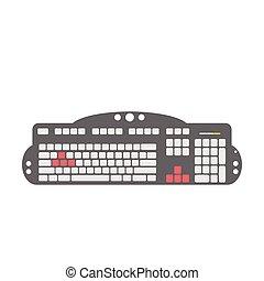 dispositivo, juego, teclado