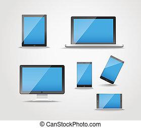 dispositivo, modernos, cobrança, digital