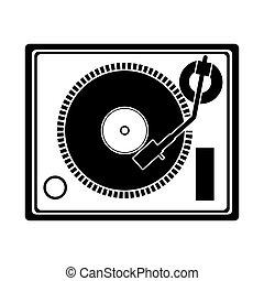dispositivo, plataforma giratória, música