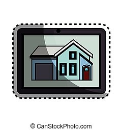 dispositivo, tabuleta, smarthouse