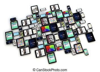 dispositivos, cobrança, isolado