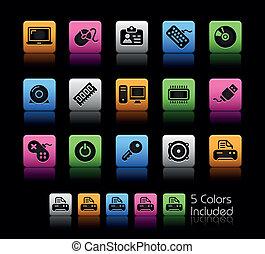dispositivos, color, /, computadora, caja, y