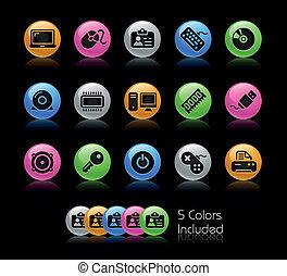 dispositivos, /, computadora, gelcolor, y