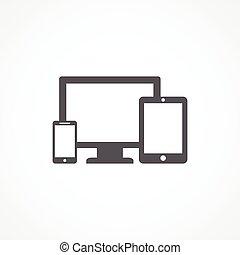 dispositivos, icono