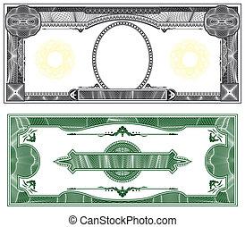 disposizione, banconota, vuoto