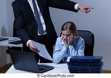 Dispute between boss and employee - Dispute between young...