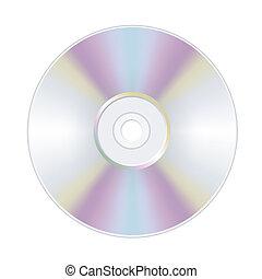 disque, cd, dvd, isolé