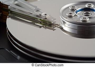 disque, closeup, conduire