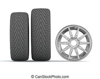 disque, et, pneus