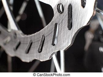 disque, frein, fôlatre vélo, fond, macro, coussins, copie, moderne, calibre, système, espace