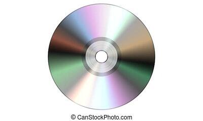 disque, isolé, arrière-plan., unique, cd, dvd, blanc