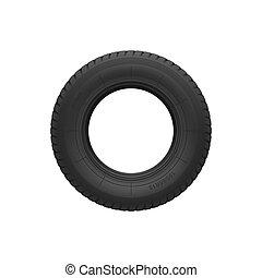 disque, isolé, roue voiture, alliage, pneu
