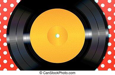 disque, vinyle, fond